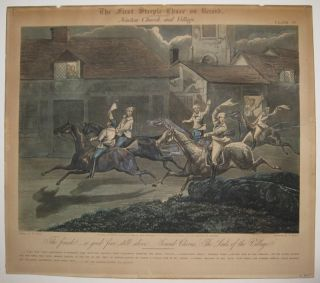 The First Steeple-Chace on Record (Set of four). Henry ALKEN.