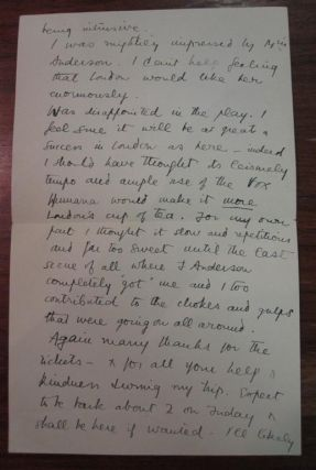 Chatty Autographed Letter Signed