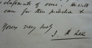 Fine three-page Autograph Letter Signed