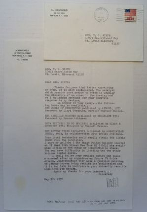 Typed Letter Signed on personal letterhead. Al HIRSCHFELD, 1903 - 2003