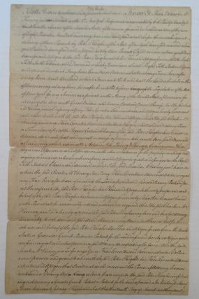 Autographed Document Signed -- a Legal Document for Land Transfer. AMERICAN REVOLUTION.