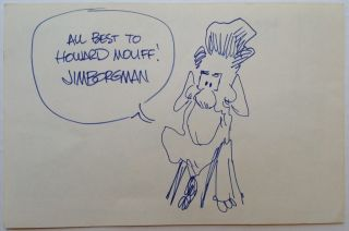 Original Signed Cartoon of Ronald Reagan. Jim BORGMAN, 1954