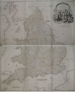 England and Wales Drawn from the most accurate Surveys-containing all the Cities, Boroughs, Market Towns and Villages; in which are included all the improvements and observations both astronomical and topographical, which have been made by members of the Royal Society & others. Down to the present year, the whole corected & improv'd by John Rocque, Chorographer to his Majesty. John ROCQUE.