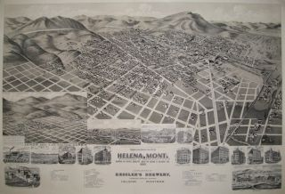 Perspective Map of the City of Helena, Mont. Capital of State, County Seat of Lewis & Clarke Co....