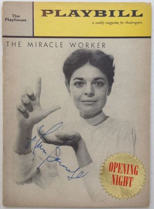 "Signed Playbill -- ""The Miracle Worker"" Anne BANCROFT, 1931 - 2005."