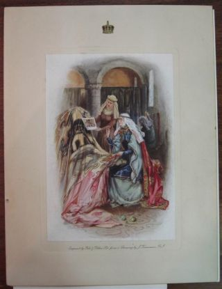 Signed Holiday cards. Queen of England MARY