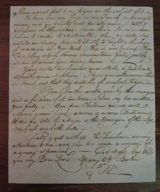 Revolutionary War-date Autographed Letter Signed