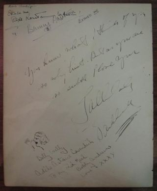 Autographed Letter Signed with an Original Sketch. Tallulah BANKHEAD.
