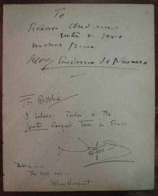 Autographed Letter Signed with an Original Sketch