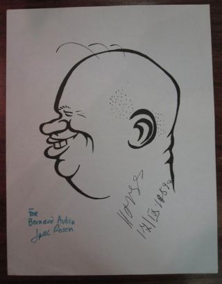 Typed Letter Signed with an original caricature