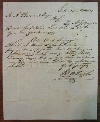 Autographed Letter Signed regarding payment on one cask of limes to arrive by boat. SLAVERY