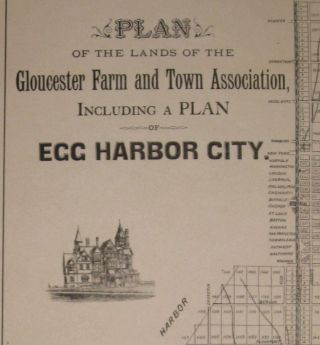 Plan of the Lands of the Gloucester Farm and Town Association, including a Plan of Egg Harbor City.