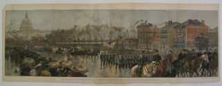 The Inauguration of President Harrison-The Procession Returning from the Capitol. HARPER'S WEEKLY.