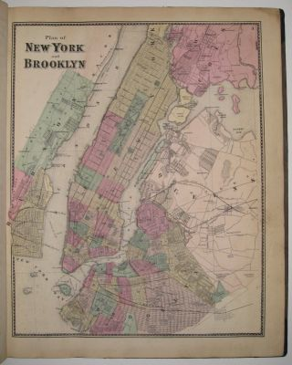 Atlas of New York and Vicinity. Frederick W. BEERS