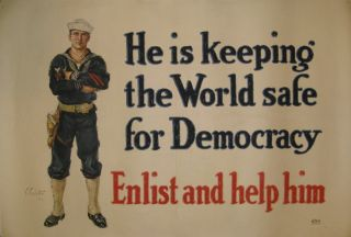 He is Keeping the World safe for Democracy: Enlist and help him. Clifford CARLETON