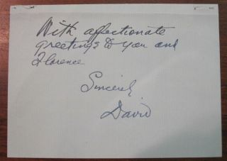 "Four-Page Autographed Letter Signed ""David"" on personal letterhead"