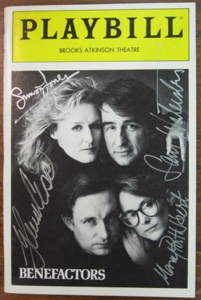 "Signed Playbill by the cast of ""Benefactors"" Glenn CLOSE"