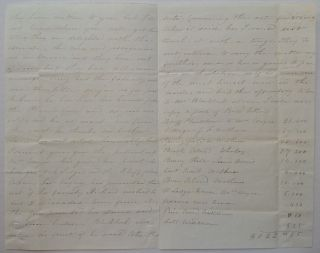 Lengthy Autographed Letter Signed Indicating Traffic in Slaves