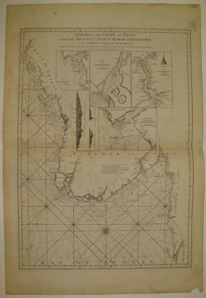 A Chart of the Coast of Pegu with the Adjacent Coast of Arakan and Tanasserim. LAURIE, WHITTLE.