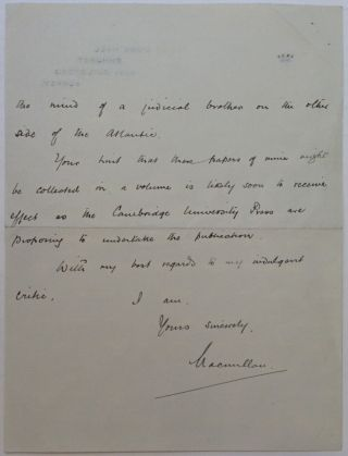 """Autographed Letter Signed """"Macmillan"""" to a Judge"""