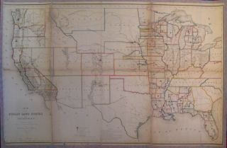 Map of the Public Land States and Territories constructed from The Public Surveys and other...