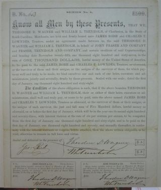 Document Signed by the Secretary of the Confederacy. George A. TRENHOLM