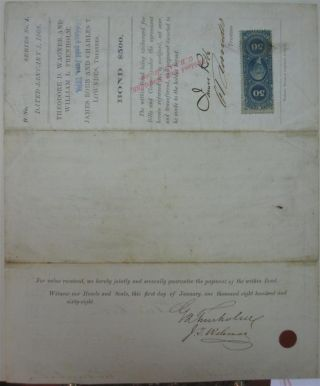 Document Signed by the Secretary of the Confederacy