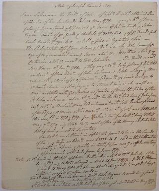 Lengthy Unsigned Manuscript by the Signer. George READ, 1733 - 1798