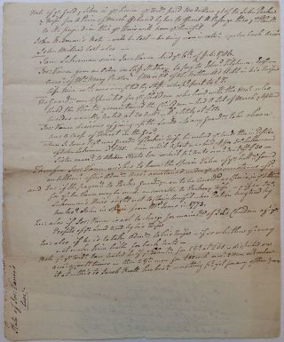 Lengthy Unsigned Manuscript by the Signer