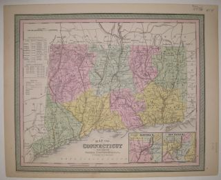 Map of Connecticut. COWPERTHWAIT THOMAS, Co.