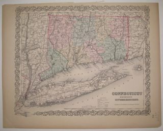 Connecticut with Portions of New York & Rhode Island. J. H. COLTON.