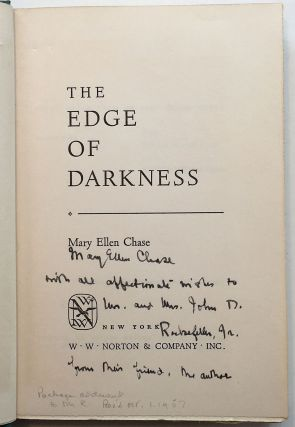 The Edge of Darkness. Mary Ellen CHASE.