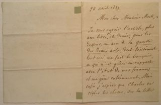 Autographed Letter Signed in French. Louis BLANC, 1811 - 1882