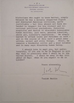 Extraordinary Typed Letter Signed about Edmond Wilson