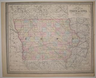A New Map of the State of Iowa. Charles DESILVER