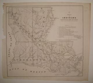 Map of Louisiana Representing the Several Land Districts Prepared to accompany the Surveryor...