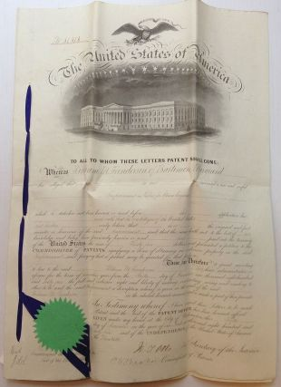 Original Scarce Patent for Steam Engines. William M. HENDERSON
