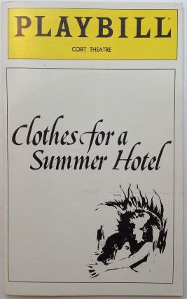"Signed Playbill from the premier performance of ""Clothes for a Summer Hotel"""