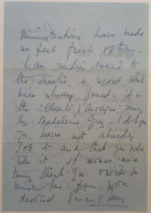 Autographed Letter Signed to Katherine Cornell
