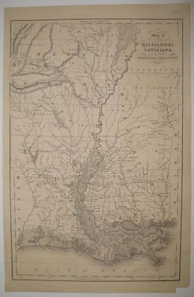 Map of the States of Mississippi, Louisiana and the Arkansas Territory. I. T. HINTON