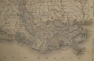 Map of the States of Mississippi, Louisiana and the Arkansas Territory