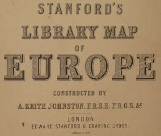 Stanford's Library Map of Europe
