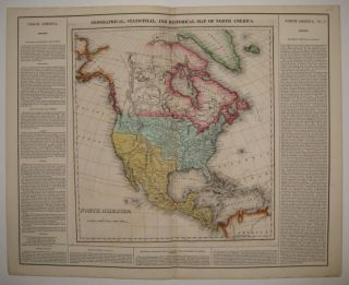Geographical, Statistical, and Historical Map of North America. CAREY, LEA.