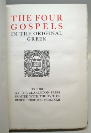The Four Gospels in the Original Greek