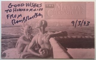 Unusual Collectible with Two Signatures. Ray BRADBURY, 1920 - 2012