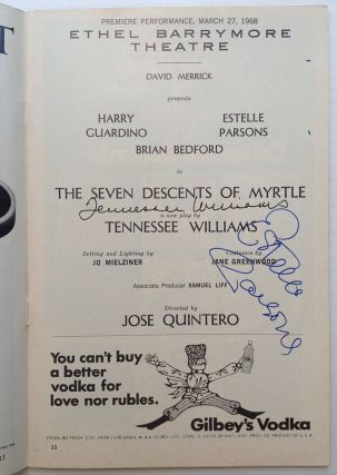 "Signed Playbill -- ""The Seven Descents of Myrtle"" Tennessee WILLIAMS, 1911 - 1983"