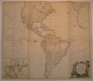 A New Map of the Whole Continent of America, Divided into North and South and West Indies,...