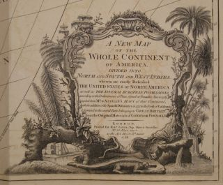 A New Map of the Whole Continent of America, Divided into North and South and West Indies, wherein are exactly the Described the United States of North America as well as the Several European Possessions according to the Preliminaries of Peace signed at Versailles Jan. 20, 1783...