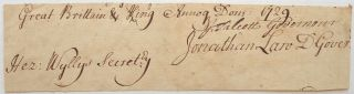 Autographed Document Signed by Three Future Governors of Connecticut. COLONIAL CONNECTICUT.