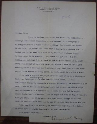 Hand-Edited Story and Two Typed Letters Signed